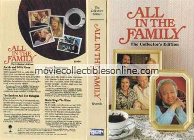 All in the Family VHS - Archie & Edith Alone, Bunkers & the Swingers, 2nd Honeymoon, Gloria Sings the Blues