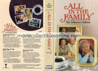 All in the Family VHS - Archie & the FBI, Edith Flips Her Wig, Hot Watch, Gloria the Victim