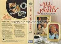 All in the Family VHS - Archie in the Celler, Jeffersons Move Up, No Smoking, Archie the Babysitter