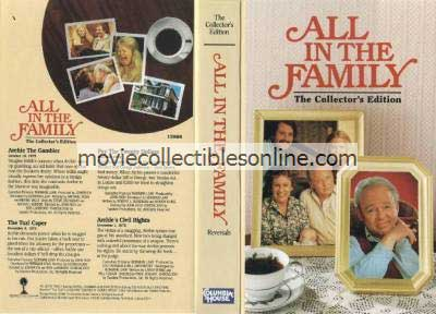 All in the Family VHS - Archie the Gambler, Taxi Caper, Pay the $20, Archie's Civil Rights
