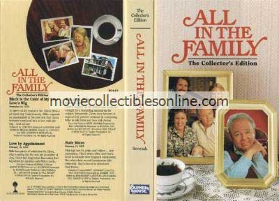 All in the Family VHS - Black Is the Color of My True Love's Wig, Love By Appointment, The Joys of Sex, Stale Mates