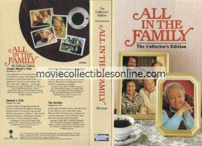All in the Family VHS - Cousin Maude's Visit, Sammy's Visit, Stretch Cunningham Goodbye, Brother