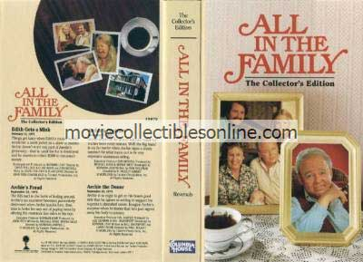 All in the Family VHS - Edith Gets a Mink, Archie's Fraud, Archie's Contract, Archie the Donor