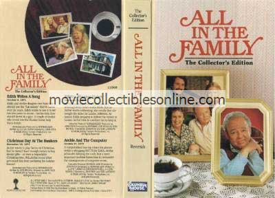 All in the Family VHS - Edith Writes a Song, Christmas Day at the Bunkers, Edith's Winning Ticket, Archie & the Computer