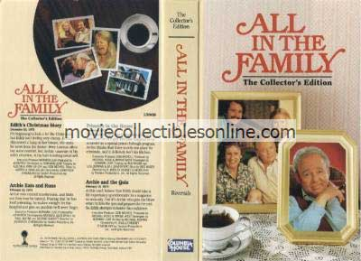 All in the Family VHS - Edith's Christmas Story, Archie Eats & Runs, Prisoner in the House, Archie & the Quiz