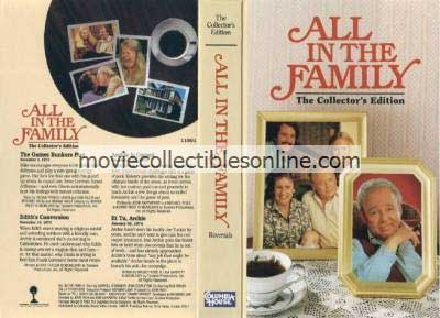 All in the Family VHS - Games Bunkers Play, Edith's Conversion, Archie Is Cursed, Et Tu Archie