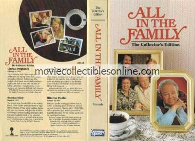 All in the Family VHS - Gloria's Pregnancy, Success Story, Gloria Poses in the Nude, Mike the Pacifist