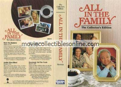 All in the Family VHS - Meet the Bunkers, Archie Gives Blood, Mike's Hippie Friends Come to Visit, Everybody Tell the Truth