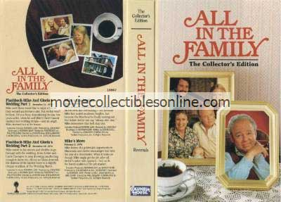 All in the Family VHS - Mike & Gloria's Wedding, Mike's Graduation, Mike's Move