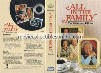 All in the Family VHS - Mike's Friend, All's Fair, Amelia's Divorce, Edith Breaks Out